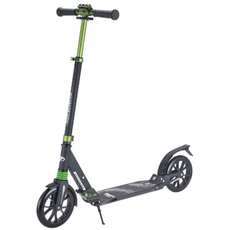Самокат TechTeam City Scooter черный-зеленый