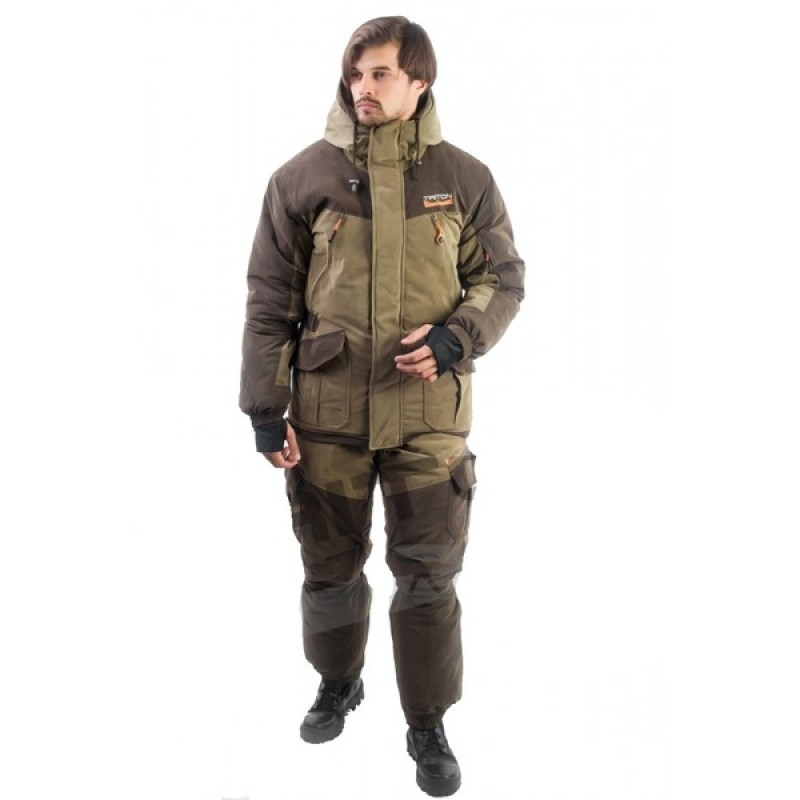 Зимний костюм для рыбалки и охоты TRITON Горка -40 (Финляндия, коричневый)
