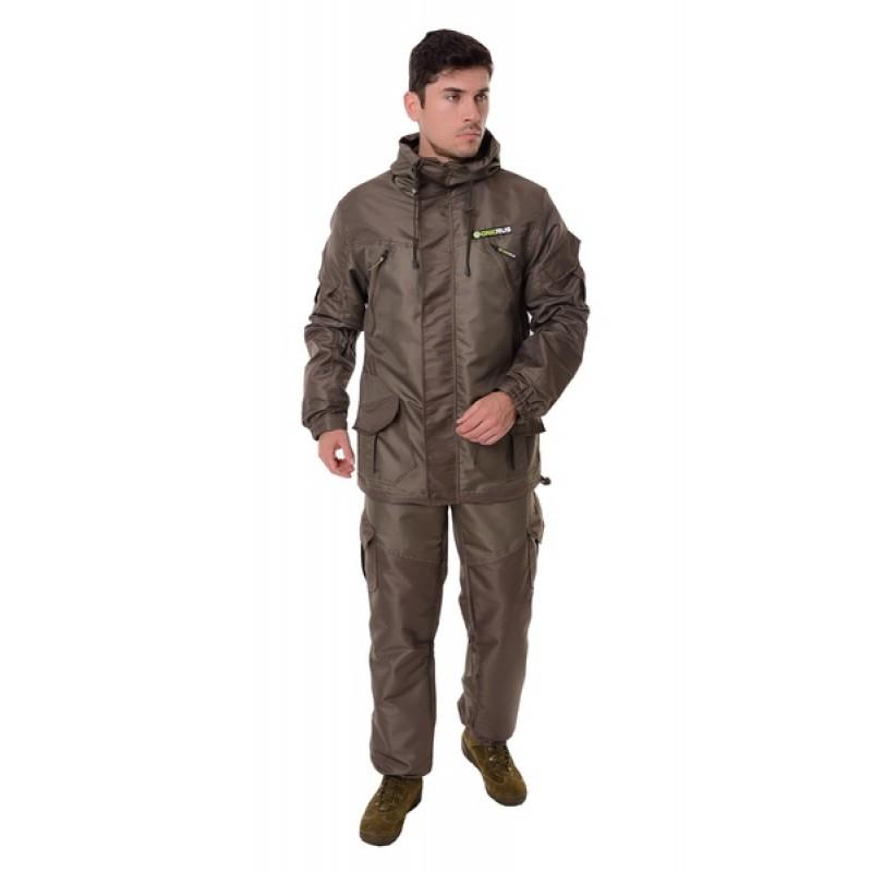 Демисезонный костюм для охоты и рыбалки ONERUS Горный -5 (Таслан/Темный Хаки, Флис)