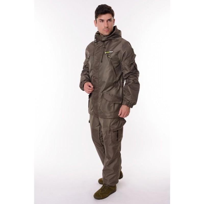 Демисезонный костюм для охоты и рыбалки ONERUS Горный -5 (Таслан/Темный Хаки, Флис) (фото 2)