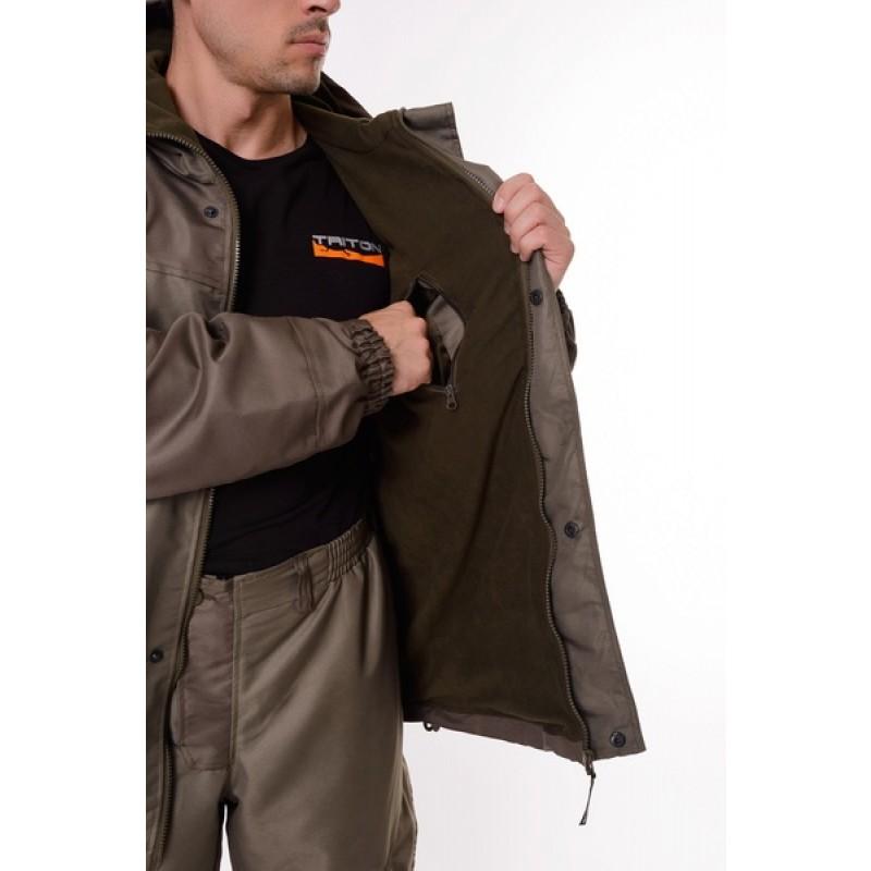 Демисезонный костюм для охоты и рыбалки ONERUS Горный -5 (Таслан/Темный Хаки, Флис) (фото 3)