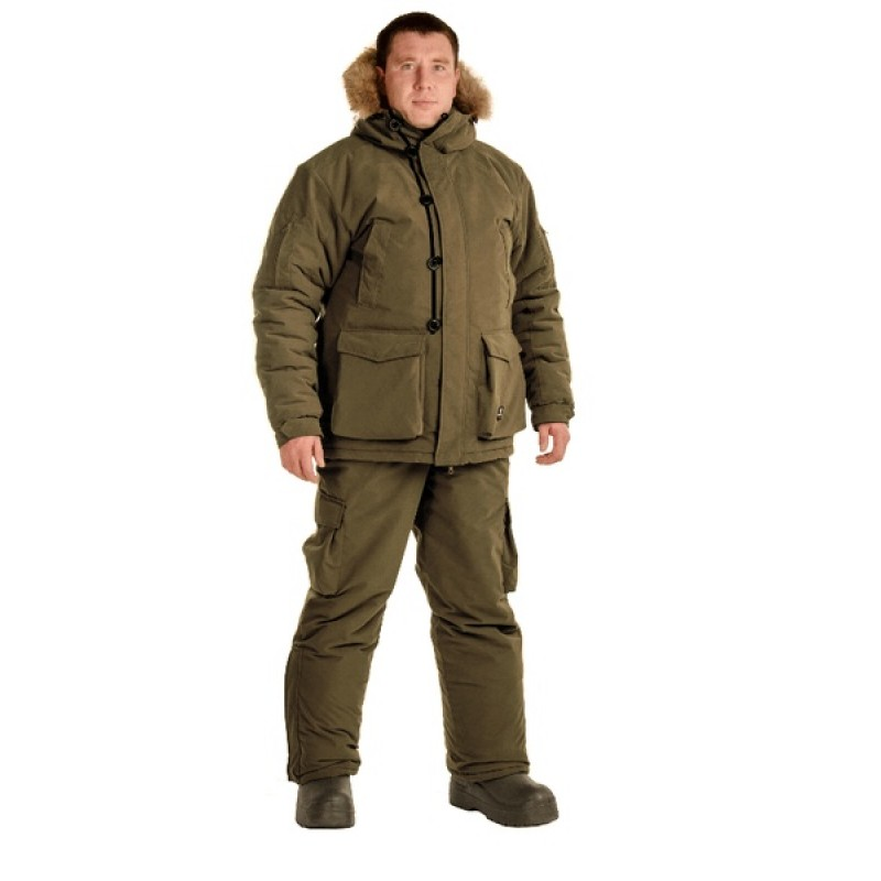 Зимний костюм для охоты «Хант -45°C» (Исландия, хаки) PRIDE полукомбинезон