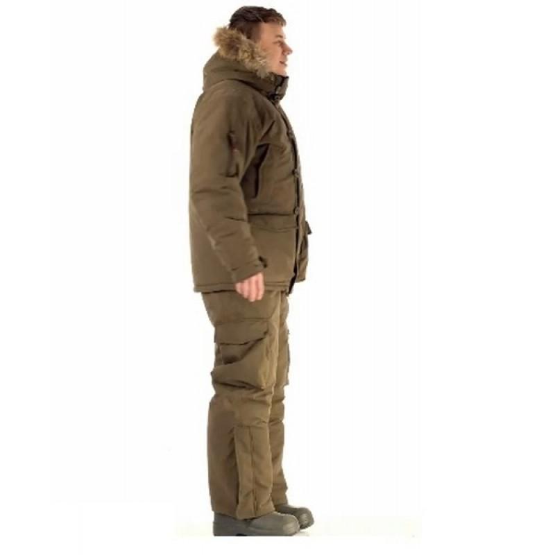 Зимний костюм для охоты «Хант -45°C» (Исландия, хаки) PRIDE полукомбинезон (фото 3)