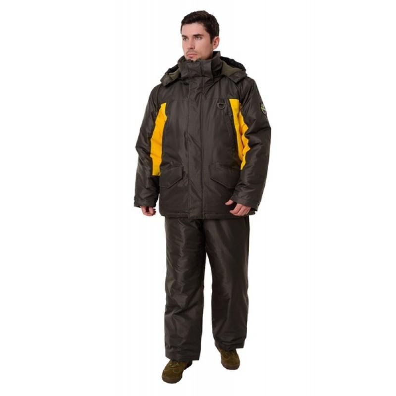 Зимний костюм для рыбалки ONERUS Фишер -45 (Таслан, Зеленый/Желтый) Полукомбинезон