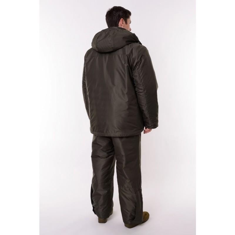 Зимний костюм для рыбалки ONERUS Фишер -45 (Таслан, Зеленый/Желтый) Полукомбинезон (фото 3)