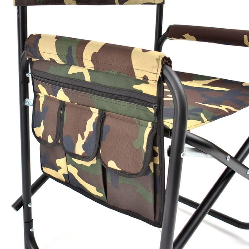 Кресло складное с карманом на подлокотнике SK-02 (сталь, камуфляж) (фото 2)