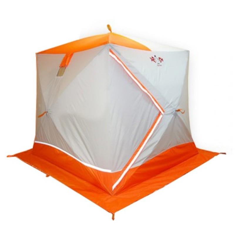 Палатка для зимней рыбалки Пингвин Призма Премиум (2-сл, В95Т1) оранжевая-белая