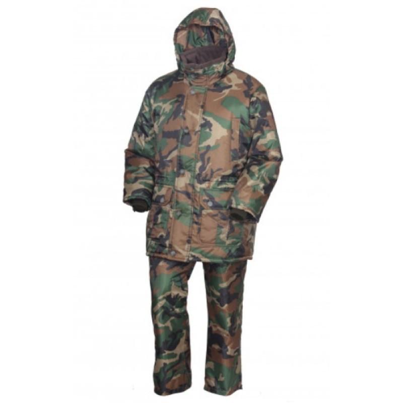Зимний костюм для рыбалки ОКРУГ «РЫБАК» (Оксфорд, камуфляж нато)