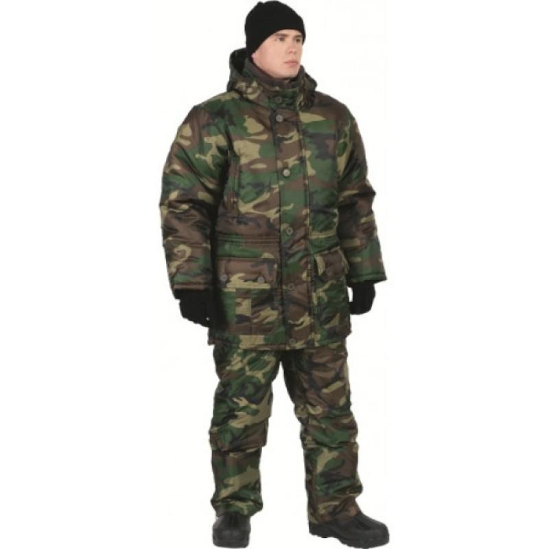 Зимний костюм для рыбалки ОКРУГ «РЫБАК» (Оксфорд, камуфляж нато) (фото 2)
