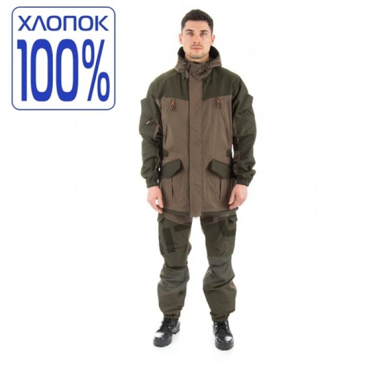 Летний костюм для охоты и рыбалки TRITON Горка (Хлопок 110 гр., хаки)