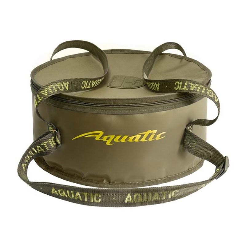 Ведро для замешивания прикормки Aquatic В-03 (с крышкой)