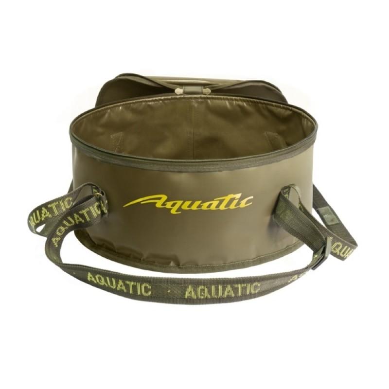 Ведро для замешивания прикормки Aquatic В-03 (с крышкой) (фото 2)