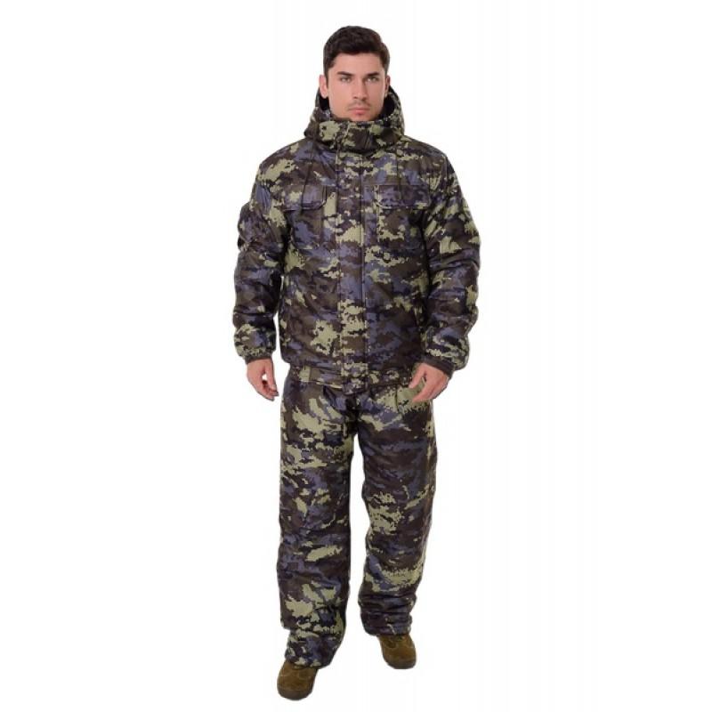 Зимний костюм для охоты и рыбалки ONERUS Патриот -45 (Алова, Коричневый) Полукомбинезон