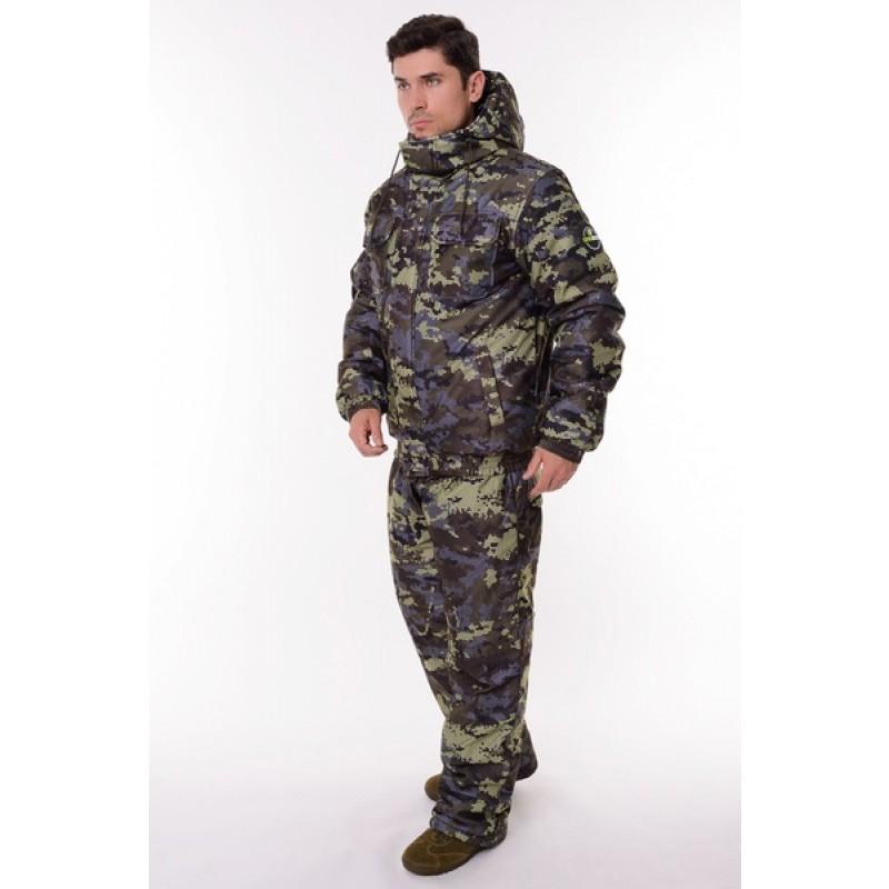 Зимний костюм для охоты и рыбалки ONERUS Патриот -45 (Алова, Коричневый) Полукомбинезон (фото 2)