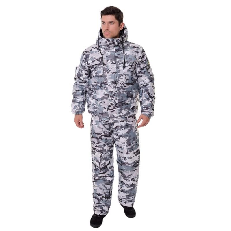 Зимний костюм для охоты и рыбалки ONERUS Патриот -45 (Алова, Белый) полукомбинезон