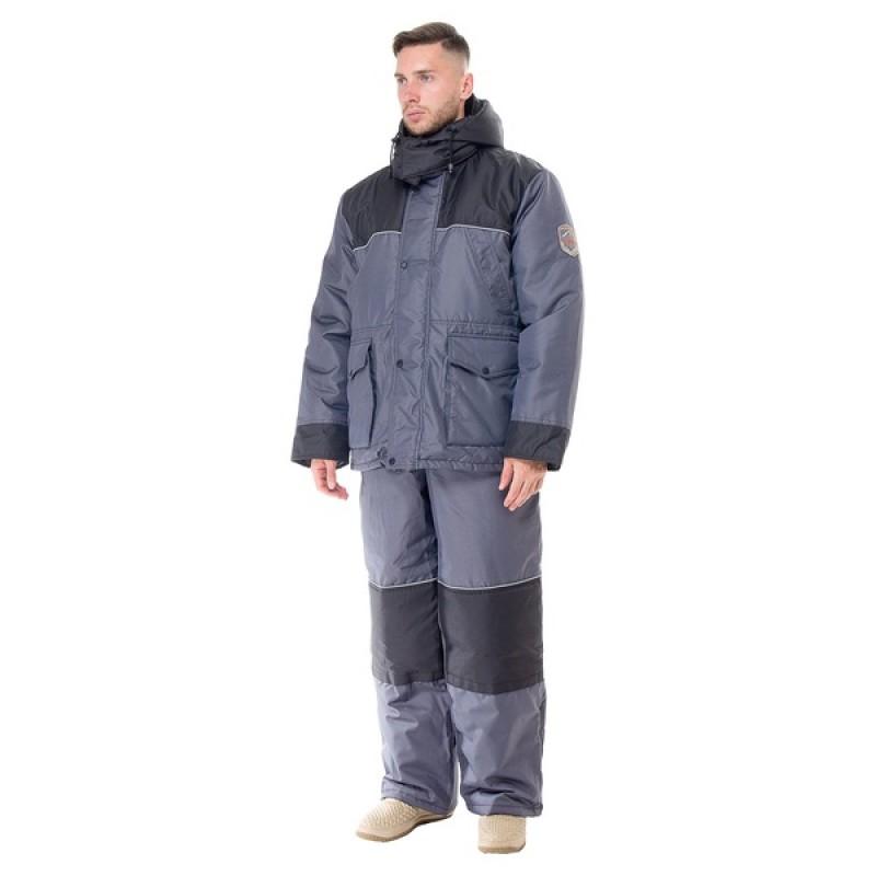 Зимний костюм для охоты и рыбалки ПОЛЮС V (Cell, серый) Huntsman