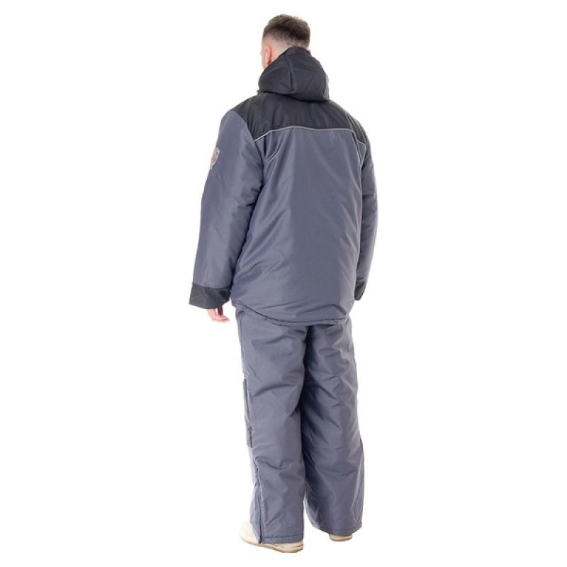 Зимний костюм для охоты и рыбалки ПОЛЮС V (Cell, серый) Huntsman (фото 2)