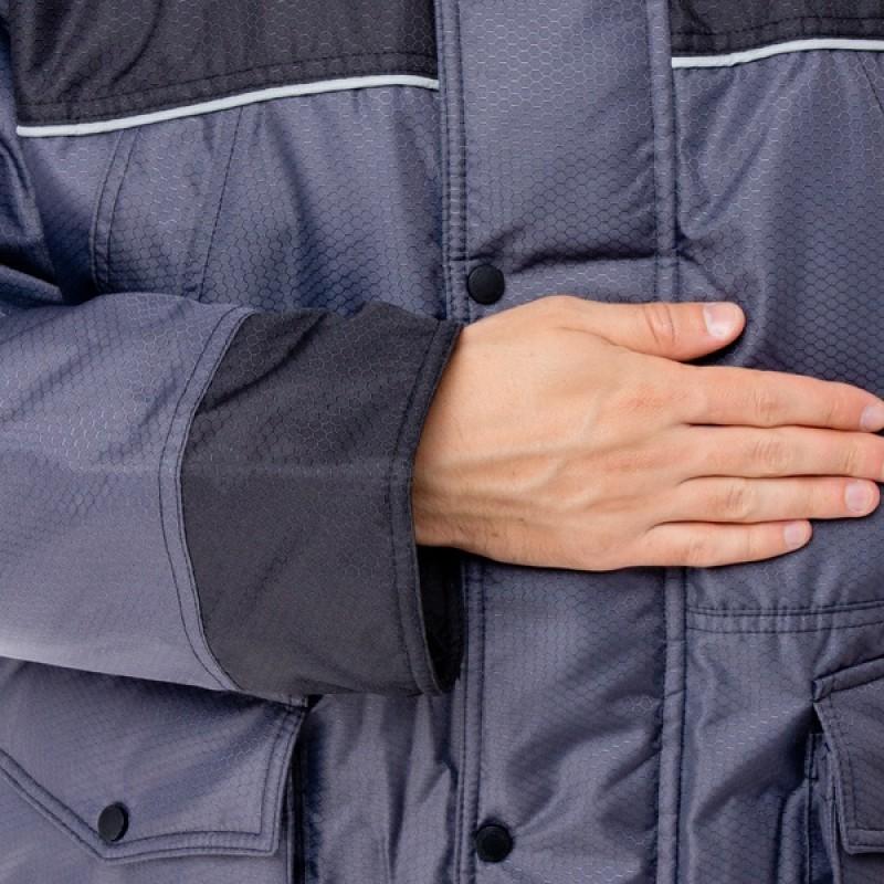 Зимний костюм для охоты и рыбалки ПОЛЮС V (Cell, серый) Huntsman (фото 3)