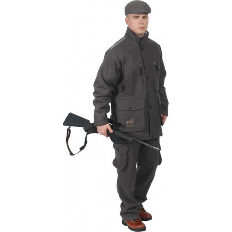 Осенний костюм для охоты и рыбалки ОКРУГ «Суконный» (сукно, серый) (фото 3)