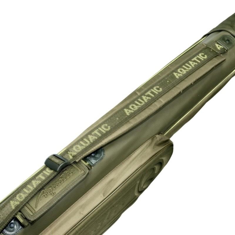 Чехол для удилищ Aquatic Ч-06 полужёсткий малый (125 см) хаки (фото 3)