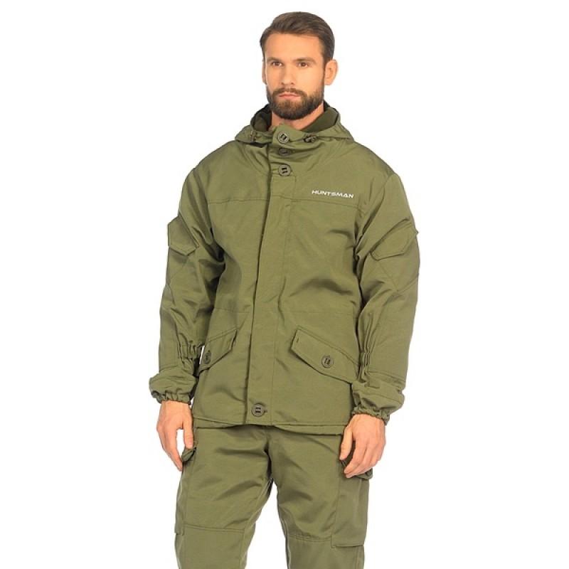 Демисезонный костюм Huntsman Горка-3 цвет Хаки ткань Смесовая Рип-Стоп (фото 2)