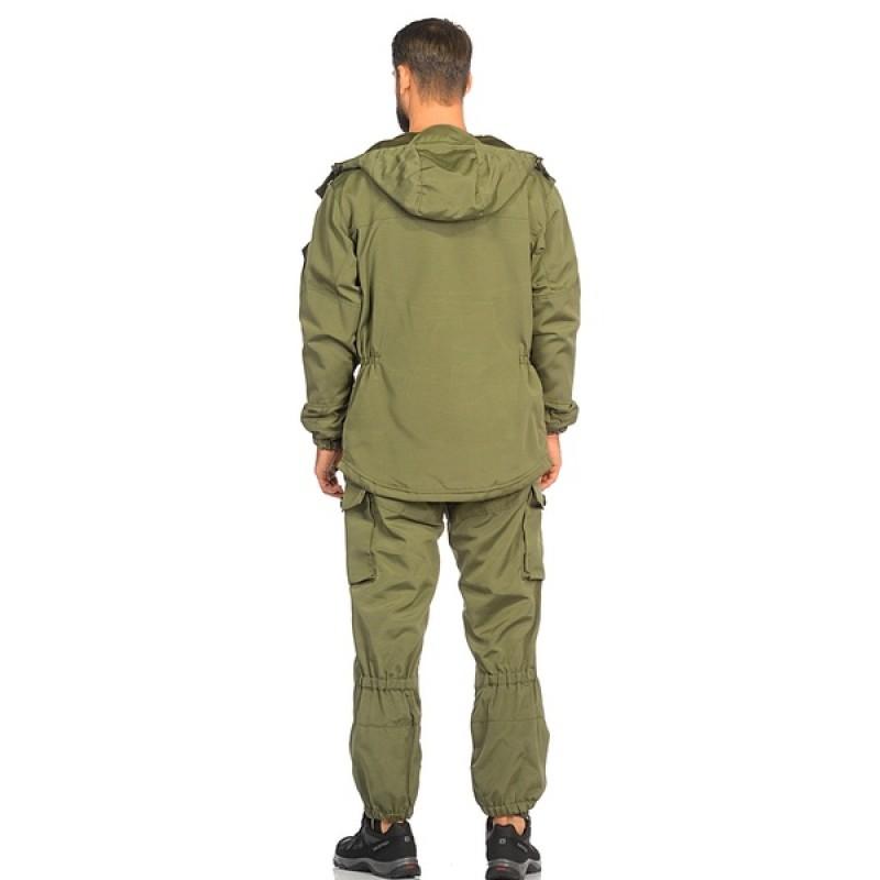 Демисезонный костюм Huntsman Горка-3 цвет Хаки ткань Смесовая Рип-Стоп (фото 3)