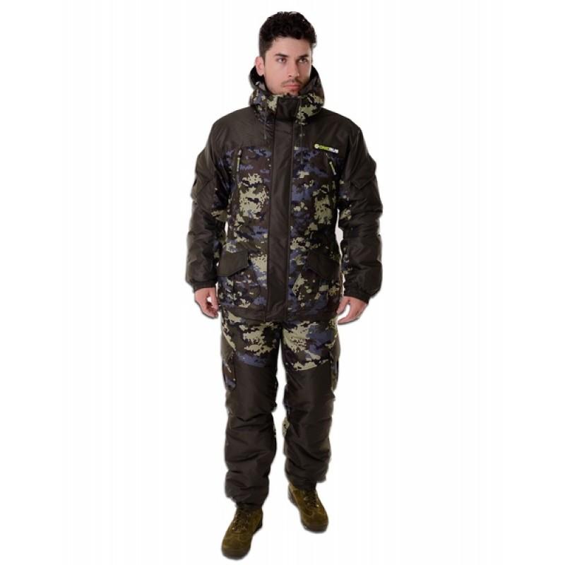Зимний костюм для охоты и рыбалки ONERUS Горный -45 (Алова/Таслан, Коричневый) полукомбинезон