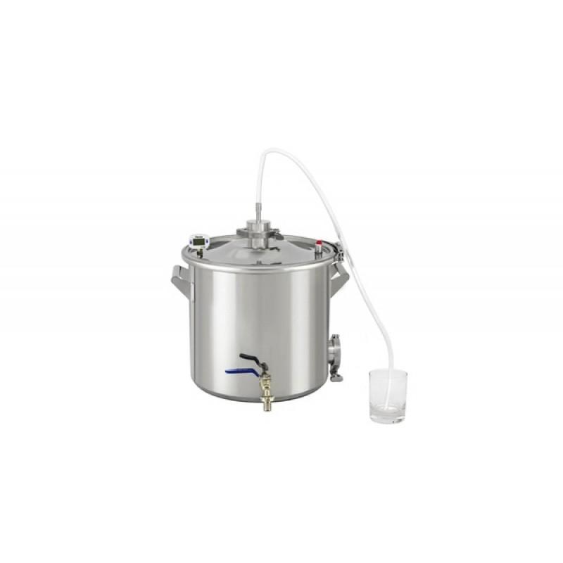 Самогонный аппарат (дистиллятор) Добрый жар ТИТАН 20 литров (съемный ТЭН) (фото 3)