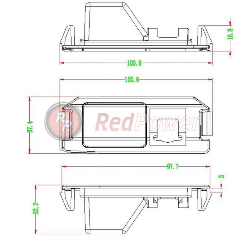Штатная видеокамера парковки Redpower HYU119P Premium для Hyundai I30/Solaris Hatchback/KIA Soul (2009-2013) (фото 4)