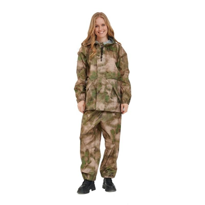Женский легкий костюм-дождевик KATRAN ЦИКЛОН (Оксфорд, мох) (фото 2)
