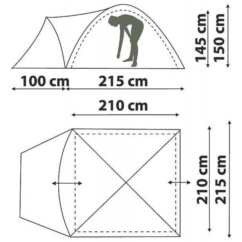 Палатка Canadian Camper Karibu 4 royal (фото 2)