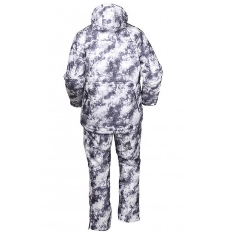Зимний костюм для охоты и рыбалки ОКРУГ «ОХОТНИК» (Алова, белый камуфляж) (фото 2)