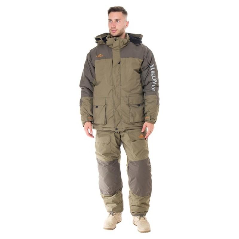 Зимний костюм для рыбалки Yukon Ice (Хаки, Breathable) Huntsman