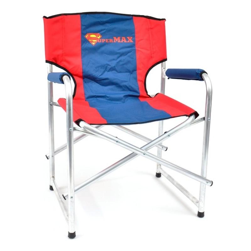 Кресло складное SUPERMAX AKSM-01 (алюминий, красный/синий)