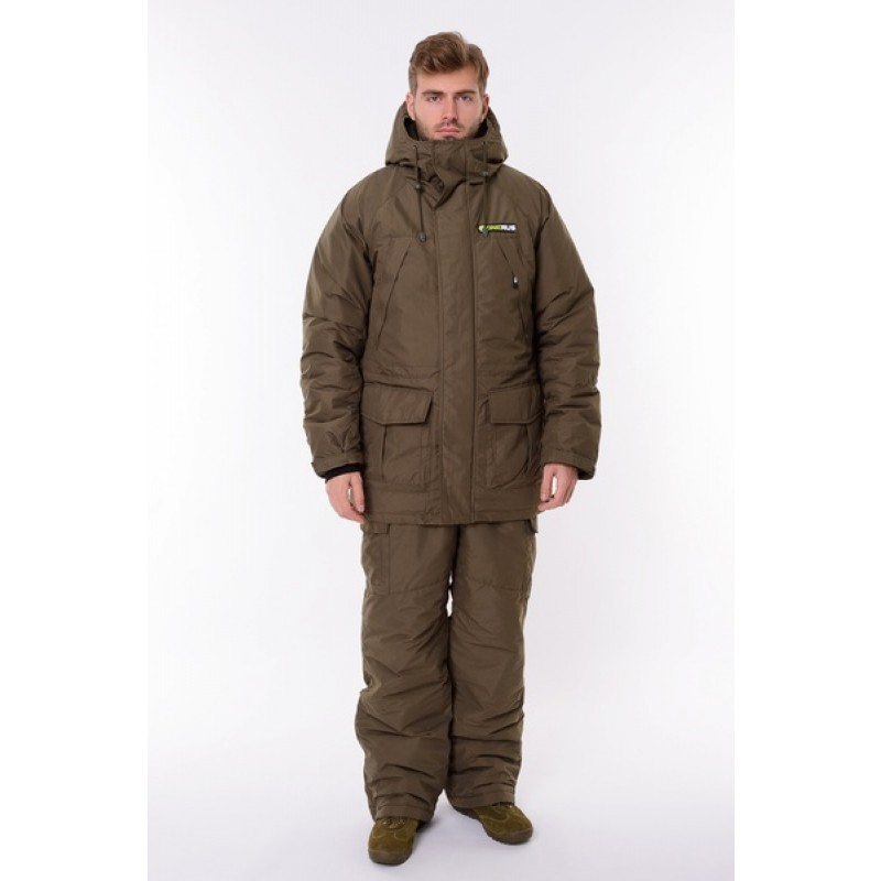 Зимний костюм для охоты и рыбалки ONERUS Хантер -45 (Канада, Хаки) Полукомбинезон