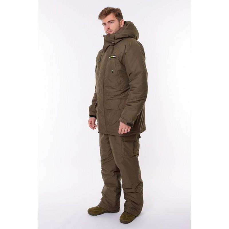 Зимний костюм для охоты и рыбалки ONERUS Хантер -45 (Канада, Хаки) Полукомбинезон (фото 2)