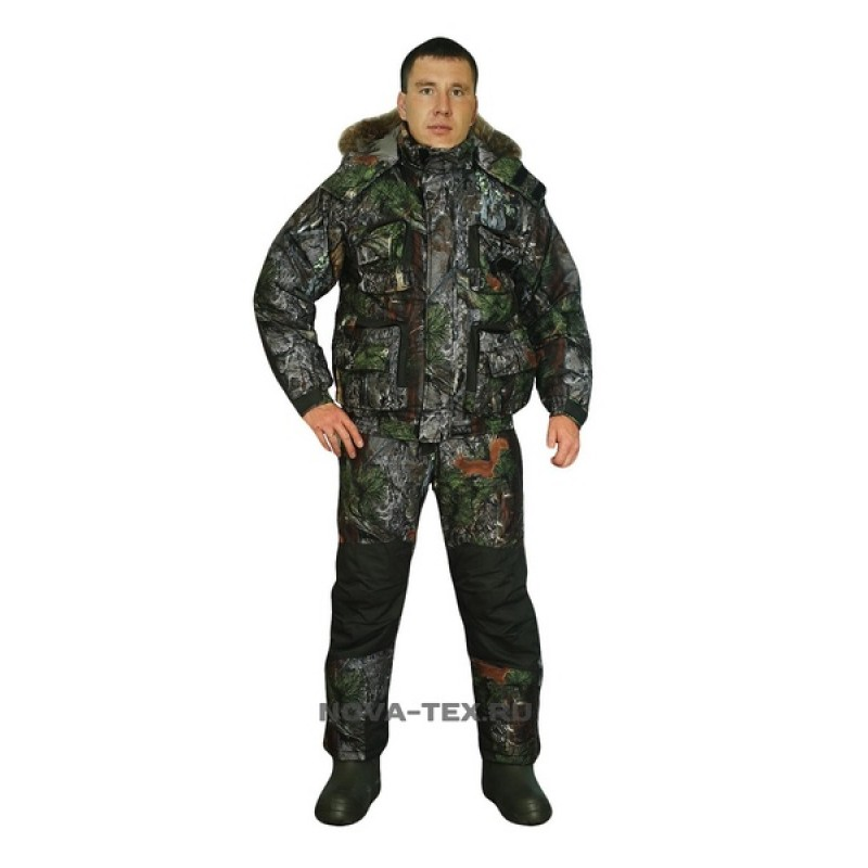 Зимний костюм для рыбалки и охоты «Фишер» -40 (Алова, PR 008-1) GRAYLING