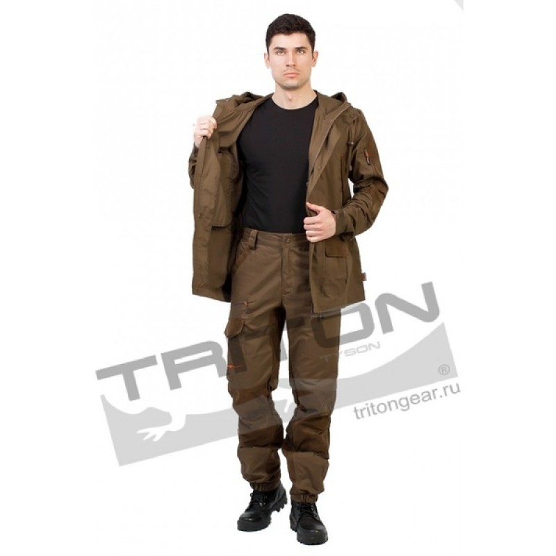 Летний костюм для охоты и рыбалки TRITON Охотник (Хлопок 180 гр., коричневый) (фото 3)