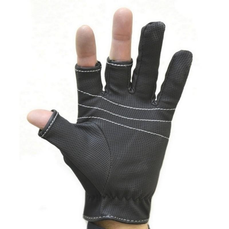 Перчатки рыболовные Aquatic ПЧ-01 (неопреновые, черные)
