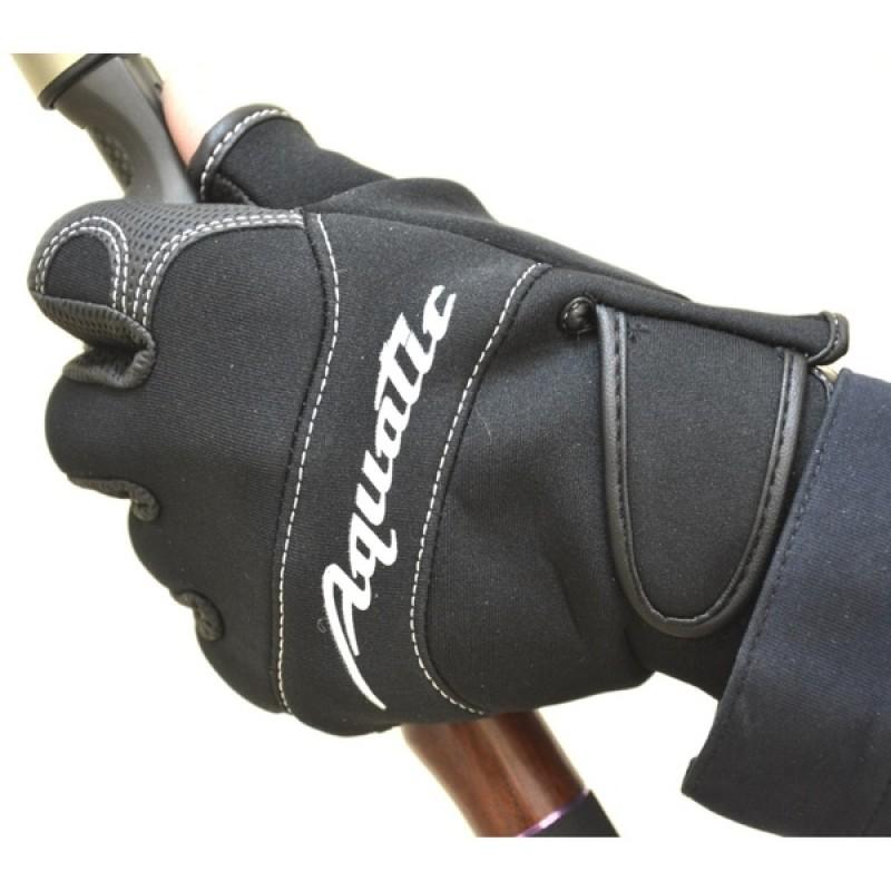 Перчатки рыболовные Aquatic ПЧ-01 (неопреновые, черные) (фото 2)