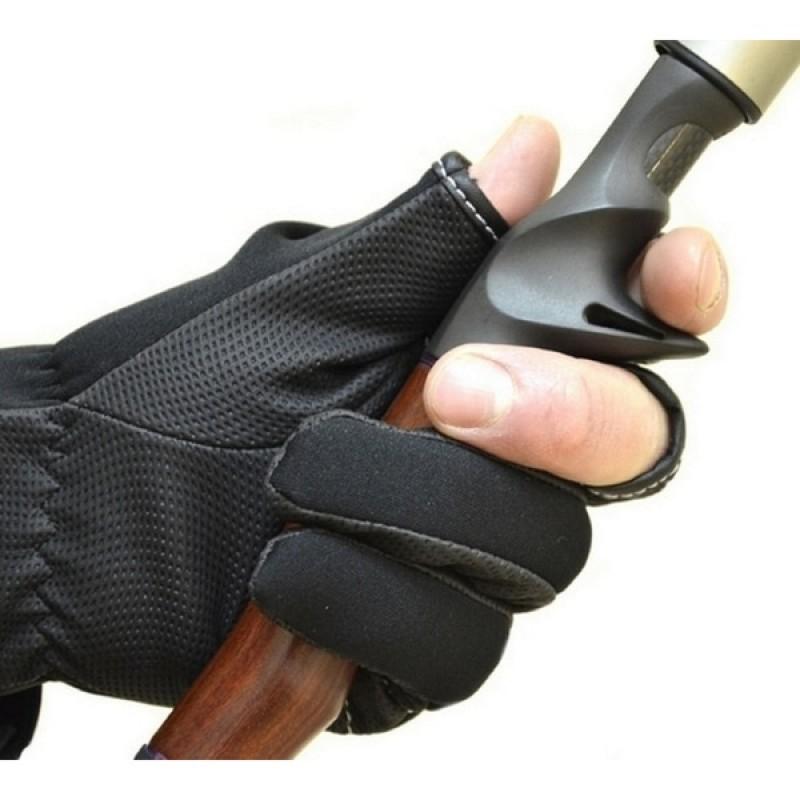 Перчатки рыболовные Aquatic ПЧ-01 (неопреновые, черные) (фото 3)
