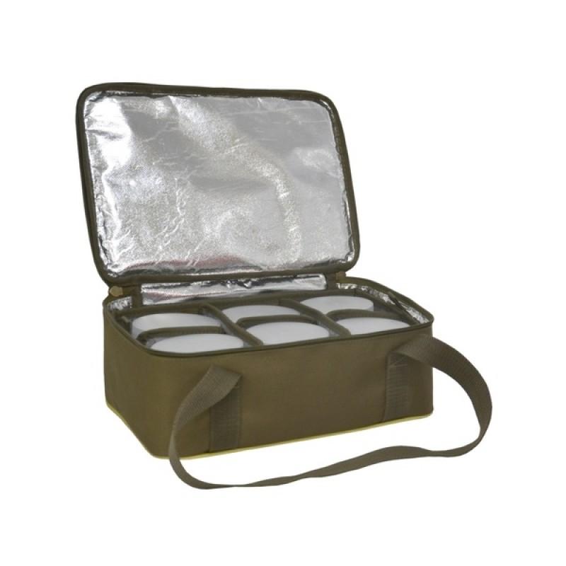 Термо-сумка Aquatic С-42Х с банками 6 шт. (цвет: хаки, размер: 32х23х15 см.) (фото 3)