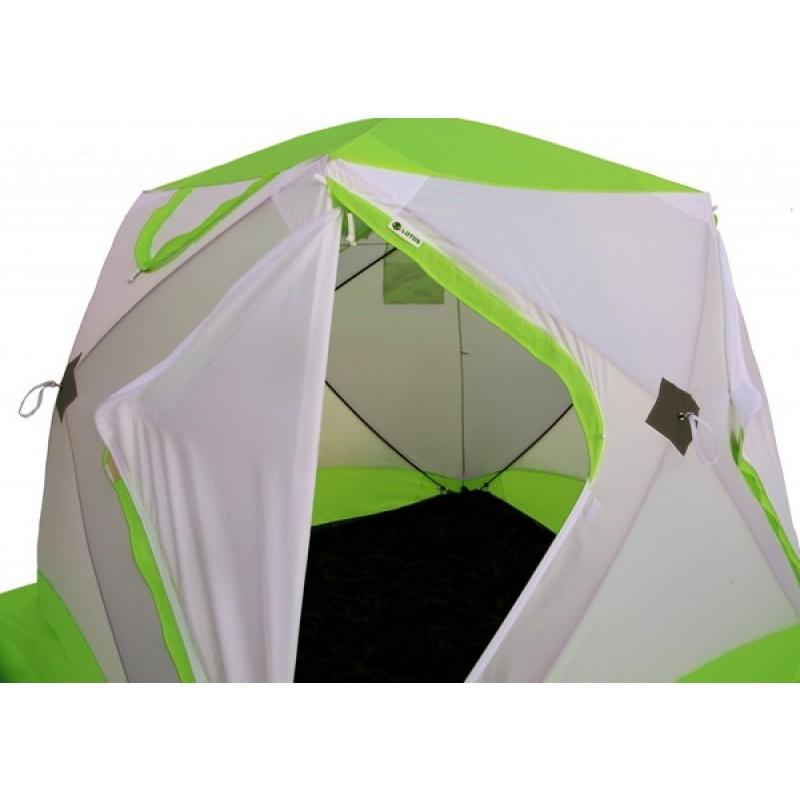 Зимняя палатка ЛОТОС Куб 3 Классик С9 (оранжевый) (фото 3)
