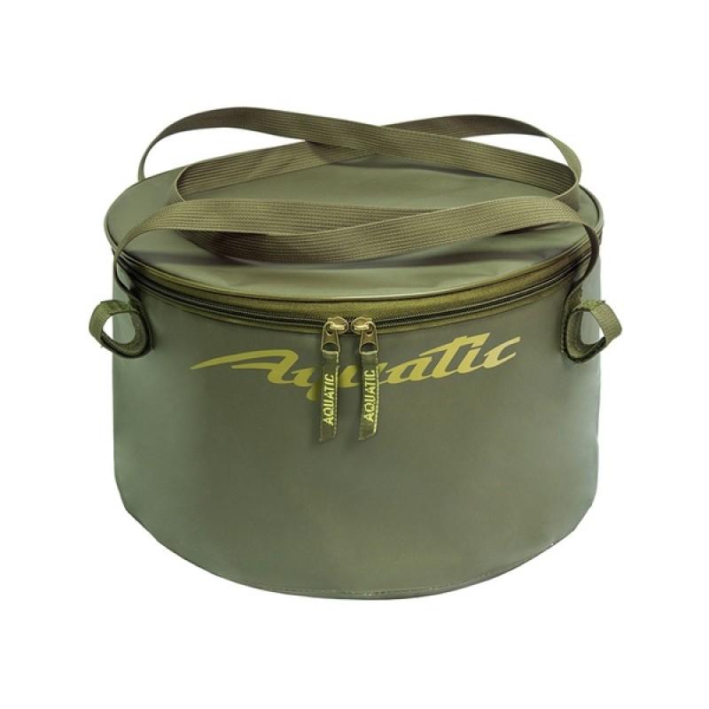 Ведро для замешивания прикормки Aquatic В-06Х (герметичное, с крышкой) хаки