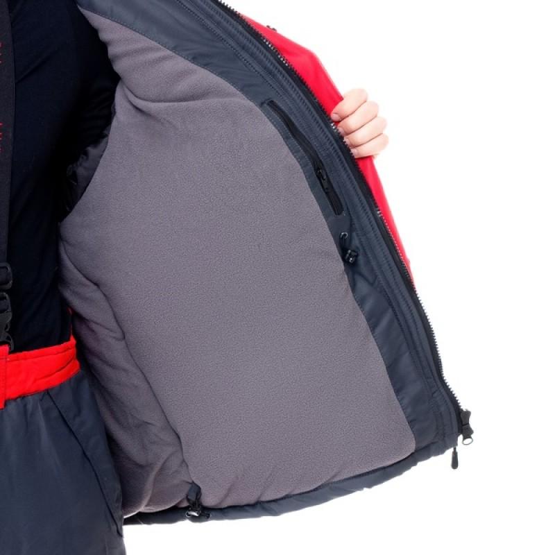 Зимний костюм для охоты и рыбалки ПЕЧОРА (Оксланд, серый-красный) Huntsman (фото 3)