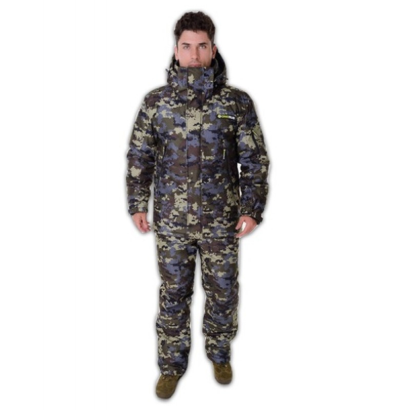 Зимний костюм для охоты и рыбалки ONERUS Тактика -45 (Алова, Коричневый/Зеленый)