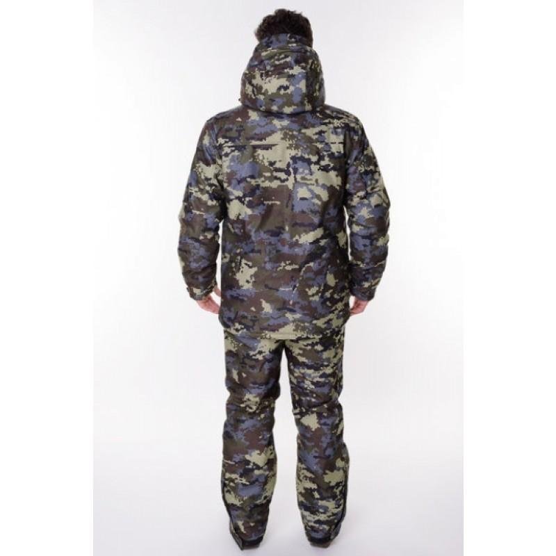 Зимний костюм для охоты и рыбалки ONERUS Тактика -45 (Алова, Коричневый/Зеленый) (фото 2)