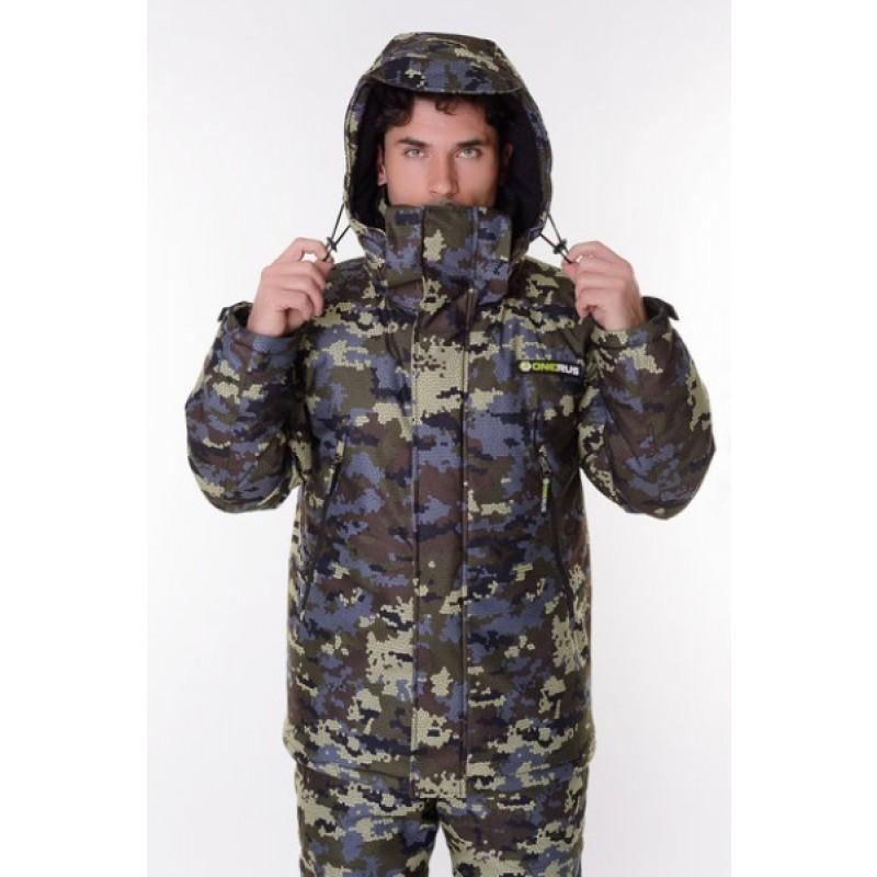 Зимний костюм для охоты и рыбалки ONERUS Тактика -45 (Алова, Коричневый/Зеленый) (фото 3)