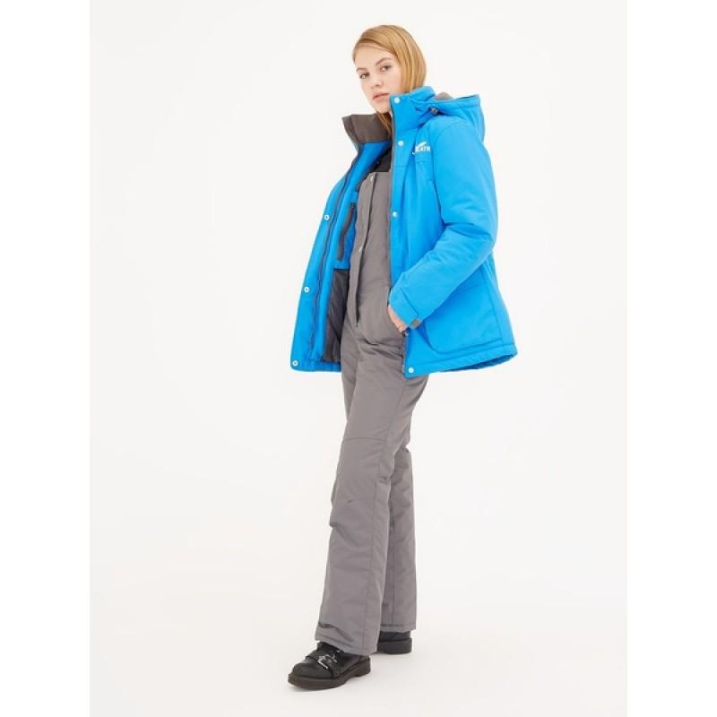 Зимний женский костюм KATRAN Сальвия -35 С (Таслан, Голубой) полукомбинезон (фото 2)