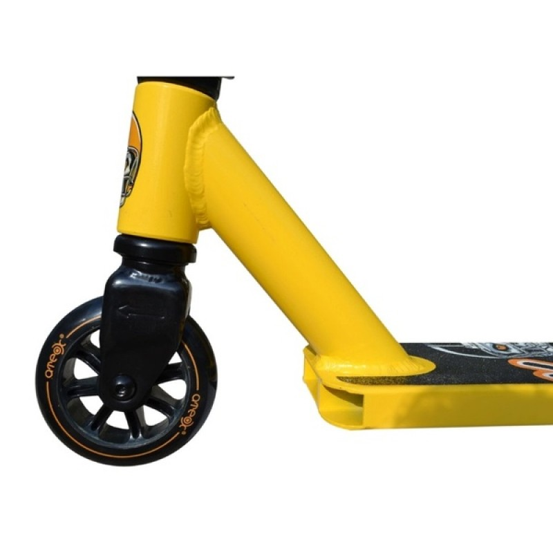 Трюковый самокат Ateox Jump желтый (фото 3)